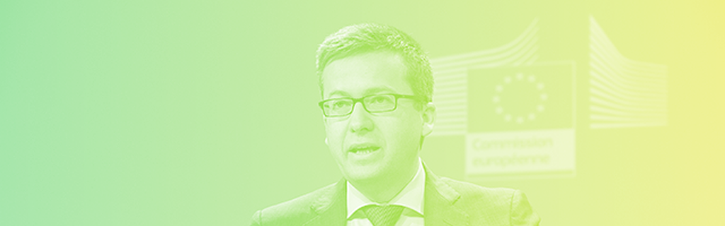 The EU's commissioner for research and innovation Carlos Moedas