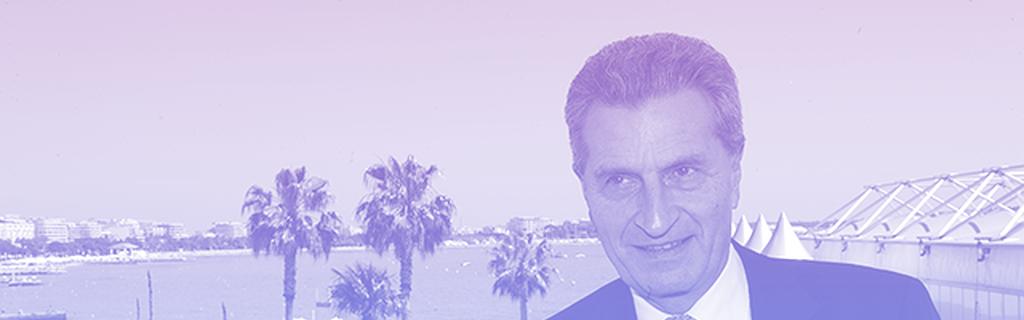 Le commissaire du numérique Günther Oettinger à l'encontre du secteur audiovisuel au festival de Cannes