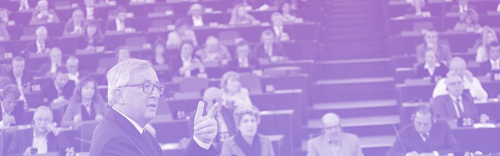 Juncker, face au Parlement européen, le 9 septembre 2015