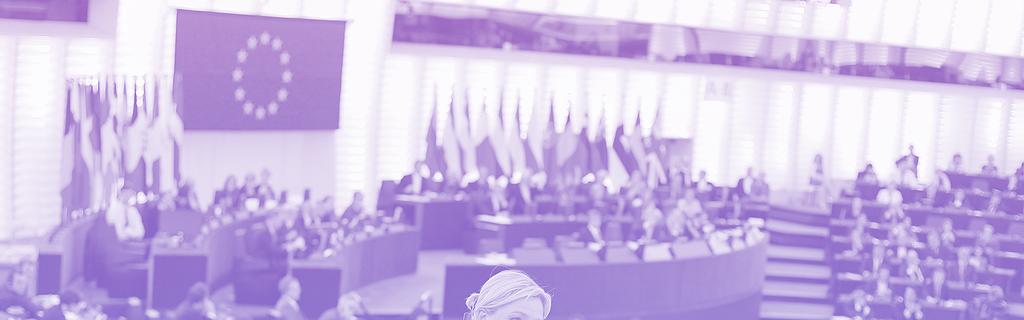 Marine Le Pen au Parlement européen à Strasbourg