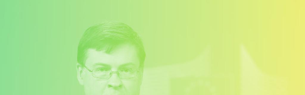 Valdis Dombrovkis, vice-président de la Commission européenne en charge de l'euro