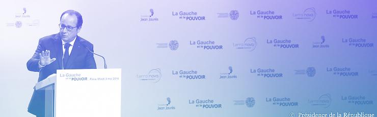 Hollande le 3 mai lors de son discours sur la Gauche et le pouvoir