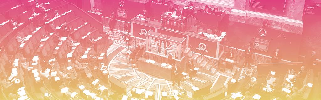 L'hémicycle pendant la séance publique sur la loi de confiance dans la vie politique