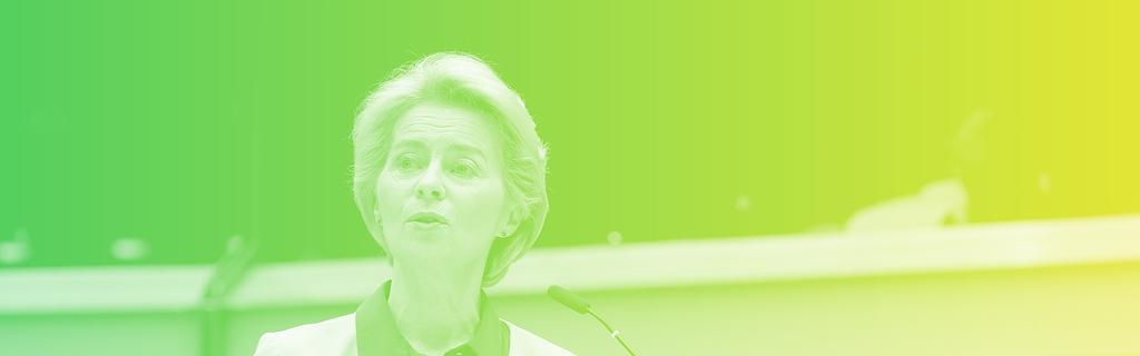 Ursula Von der Leyen présentant le Green Deal