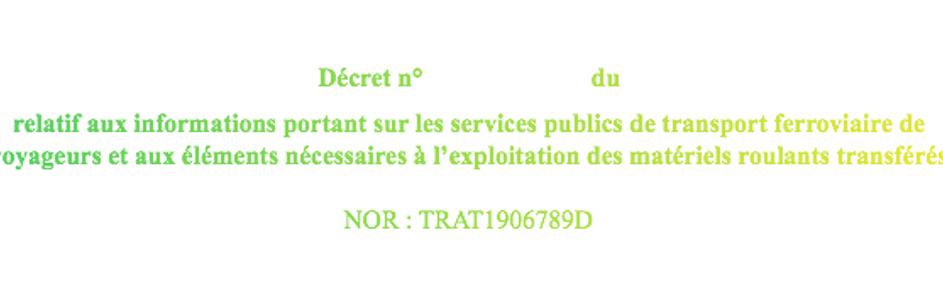 Projet décret données pacte ferroviaire
