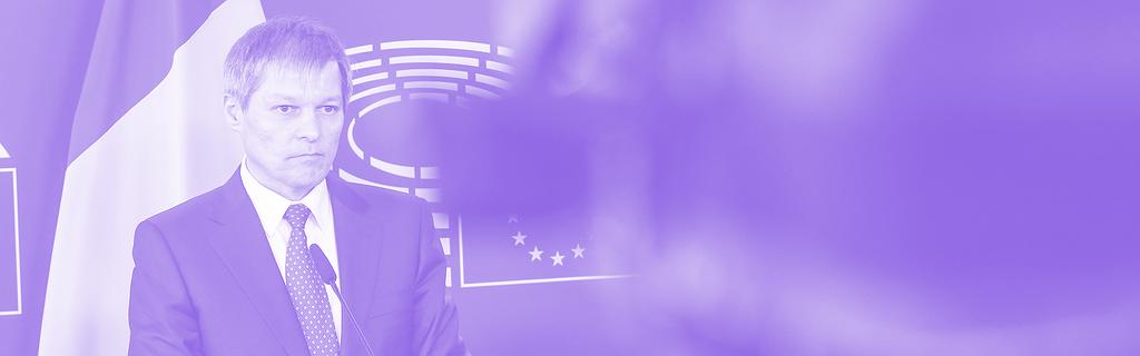 Dacian Ciolos au Parlement européen en 2016, alors Premier ministre roumain