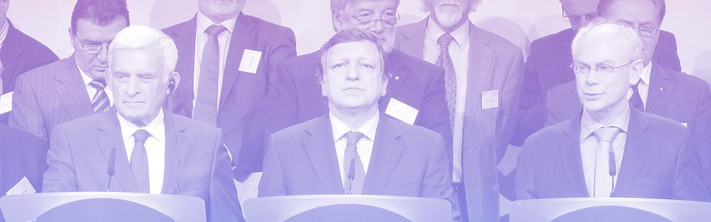 Les trois présidents PPE en 2011 (Jerzy Buzek au Parlement européen, José Manuel Barroso à la Commission, Herman Van Rompuy au Conseil)