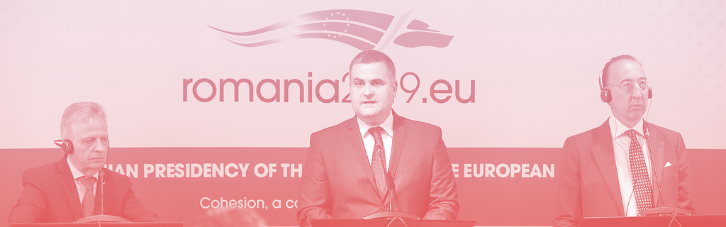 Lors d'une conférence de la présidence roumaine de l'UE
