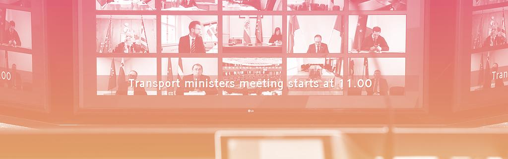 La réunion des ministres a eu lieu en vidéoconférence, le 18 mars 2020