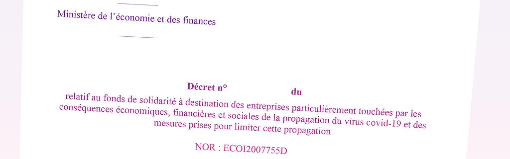 Info Contexte - Un nouveau projet de décret sur le Fonds de solidarité