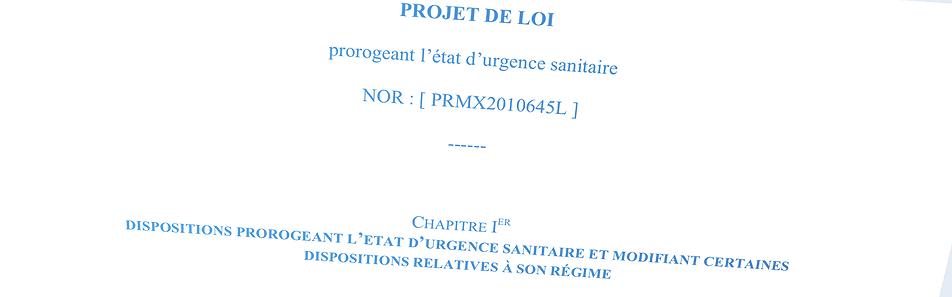 Document Contexte - Le projet de loi de prorogation de l'état d'urgence sanitaire