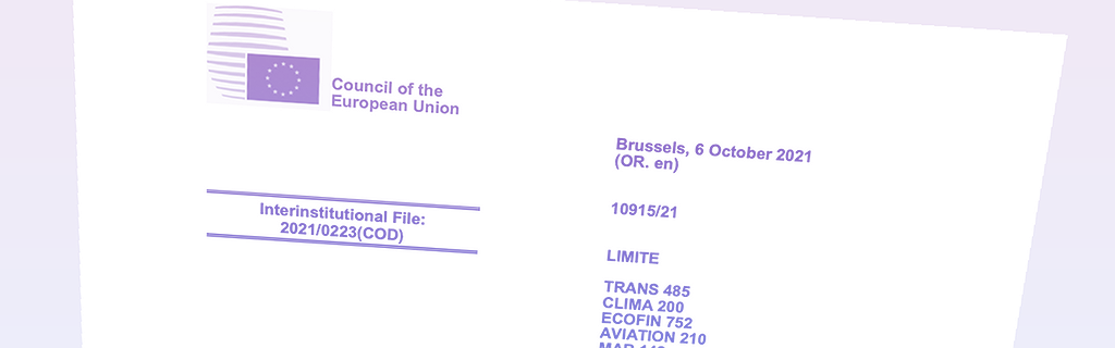 Premier projet de compromis du Conseil sur le règlement relatif aux infrastructures de recharge, 6 octobre