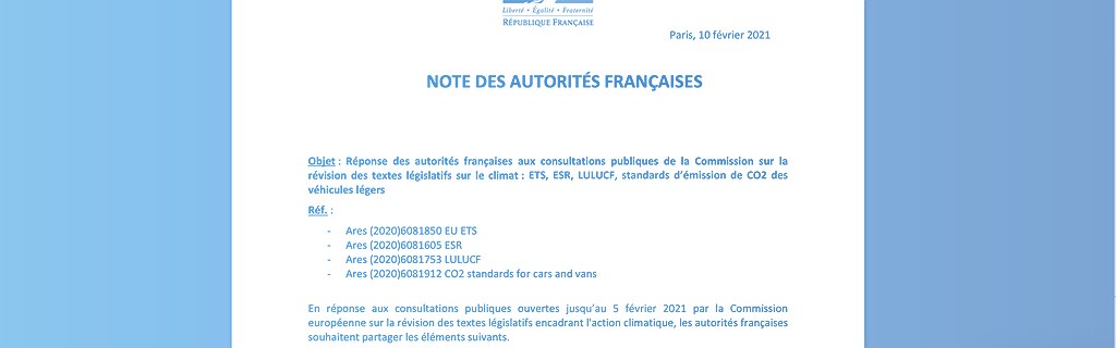 Note française FIT FOR 55
