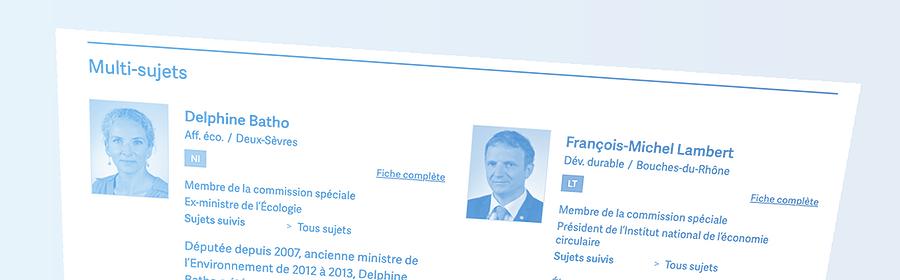 Projet de loi Convention citoyenne: les députés à suivre 2