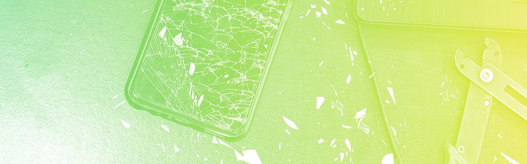 Un téléphone cassé