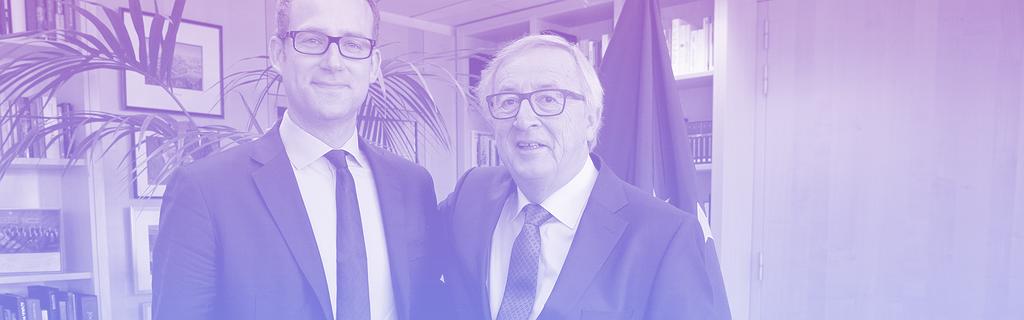 Richard Szostak et Jean-Claude Juncker