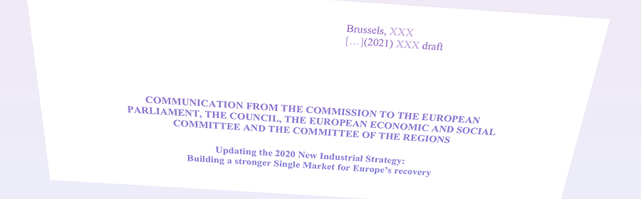 Document Contexte - L'autonomie stratégique en bonne place dans la nouvelle stratégie industrielle européenne