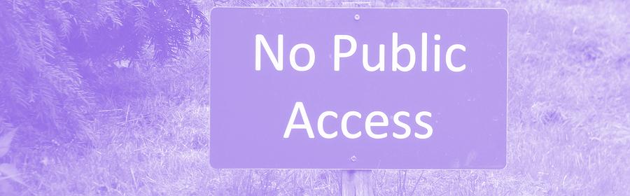 No public access